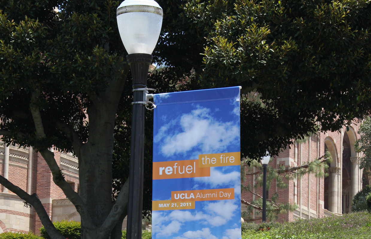 UCLA Alumni Day flag - Fundi Design
