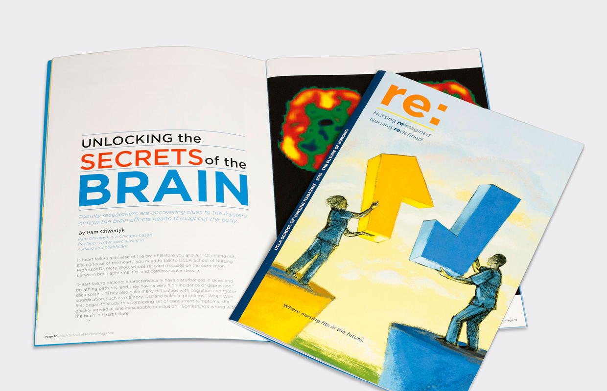 UCLA School of Nursing magazine design