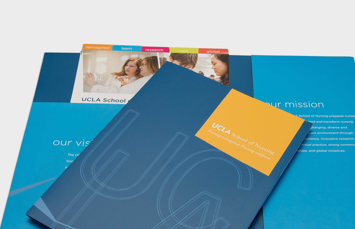 UCLA School of Nursing press kit design